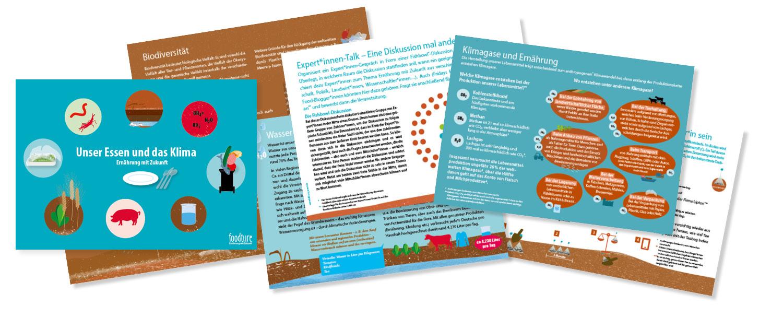foodture Bildungsmaterial – Kartenset: Karten werden beispielhaft gezeigt